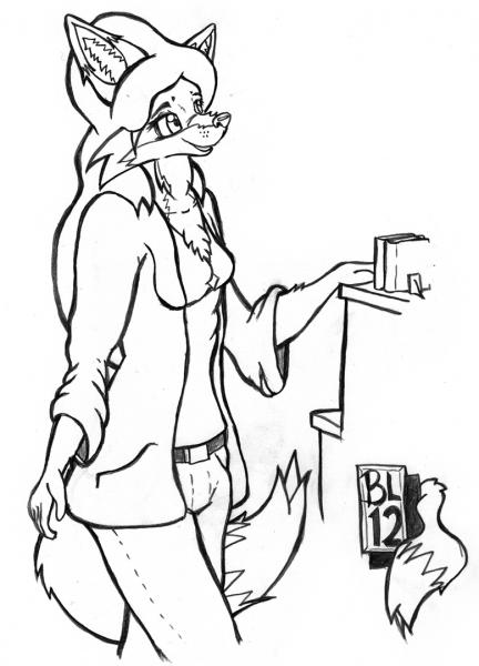 Roxanne Getting Coffee